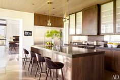 Kitchen in designer Sara Story's Texas weekend home  |  Arrchitecture by Lake|Flato  |  Photo: Pieter Estersohn