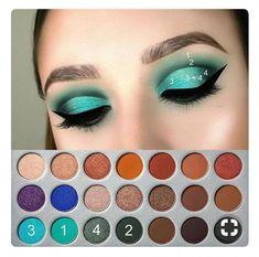 Jaclyn Hill x Morphe # Lidschatten - Makeup Tutorial African American Jaclyn Hill Palette, Jacklyn Hill Palette Looks, Jaclyn Hill Eyeshadow Palette, Morphe Eyeshadow, Eyeshadow Makeup, Morphe 350 Palette Looks, Makeup Brushes, Teal Eye Makeup, Morphe 35o