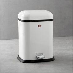 Wesco Singleboy 3.4-Gallon White Trash Can: Remodelista