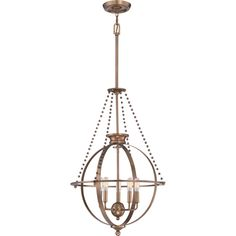 Quoizel|UPAP2822WS|Pendant weathered brass