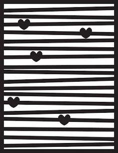 Random Vintage Finds: Line Hearts Cut File