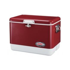Ice Chest Coleman Cooler Steel Belted 54 Quart Camping Vintage Picnic Sports