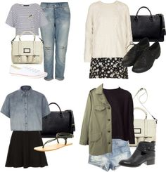 Eleanor inspired outfits for the first day of school! Untitled #4399 by florencia95 featuring flat shoes Topshop / Topshop / Topshop / Zara open back top / Rag & Bone / Topshop / Topshop / Topshop / H&M jean shorts, $31 / ASOS leather boots / Topshop flat shoes / Converse  shoes, $62 / Office leather shoes, $34 / Marc by Marc Jacobs travel bag / Zara  handbag