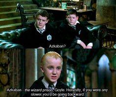 Harry Potter ~ Draco Malfoy is sassy Harry Potter Love, Harry Potter Fandom, Harry Potter World, Hermione Granger, Draco Malfoy, Lord Voldemort, Ron Weasley, Slytherin Pride, Hogwarts Alumni