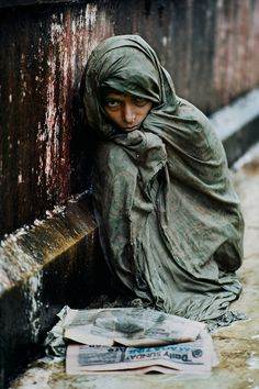 Steve McCurry #Photography taken during a Monsoon flood in #Gujarat, #India