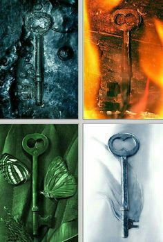 The four keys, Fire, Water, Air, and Earth Gothic Fantasy Art, Medieval Fantasy, Magia Elemental, Earth Air Fire Water, 4 Elements, Elemental Powers, Element Symbols, Beautiful Nature Wallpaper, Witch Aesthetic