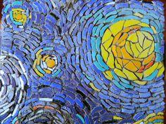 Noche estrellada. Van Gogh. Arte en parte - Taller multiarte: JORNADA DE MOSAICO SOBRE MALLA