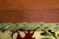 braided fleece edging  Yellow Suitcase Studio: December 2011
