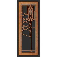 Frank Lloyd Wright Robie Art Glass Window B Wall Element Dark Brown Wenge