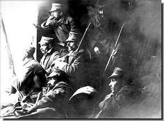 First Balkan War. Greek soldiers wait for action