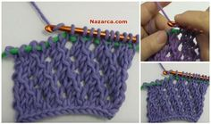 TUNUS İŞİ YANDAN ÇARKLI MODELİ VİDEOLU YAPIMI Tunisian Crochet Patterns, Crochet Stitches, Crochet Hooks, Free Crochet, Knit Crochet, Yarn Crafts, Diy And Crafts, Fingerless Gloves, Arm Warmers
