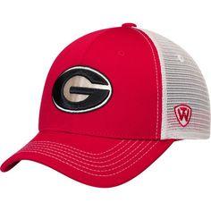 c198fe9aa0aa3 Georgia Bulldogs Top of the World Ranger Trucker Adjustable Snapback Hat -  Red