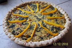 Jen's Ultra-Decadent Spinach and Mushroom Quiche | VegWeb.com, The World's Largest Collection of Vegetarian Recipes