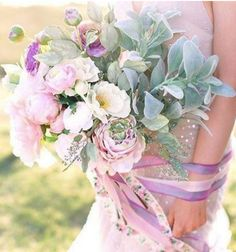 What a gorgeous bouquet made with silk flowers and vintage ribbon from afloral.com!  Photo and Design by Kay English Photography