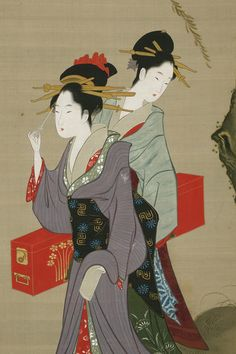 Three types of beauties in Edo, approx. 1798–1829, by Chobunsai Eishi