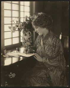Actress Mary Pickford, Feb. 27, 1918.  Peacock kimono!