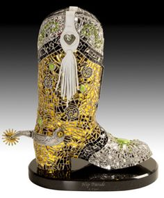 Joni Carr, Hip Parade Mosaic Boot Sculpture