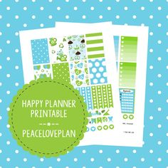 Earth Day MAMBI Happy Planner Printable - Weekly Set, Happy Planner Stickers, PDF Instant Download