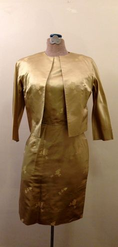 Gorgeous 1950's 1960's  Gold Silk Brocade Cocktail von hilovintage, $59.99