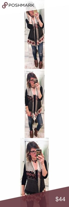 ➡Anthropologie Aryeh Boho Sweater Vest⬅ Transition into spring with style in this boho-cozy sweater vest. New with tags. Anthropologie Jackets & Coats Vests