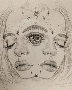 "1,648 Likes, 43 Comments - Luigi Boatto (@luigi_boatto) on Instagram: ""the good side ¿ #drawing #thirdeye #portrait #pencil #onyxkawai #disegno #artwork #dailyart…"""