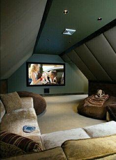 Home theater in the attic