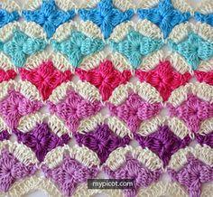 Crochet Cluster Flower Stitch Tutorial - (mypicot)