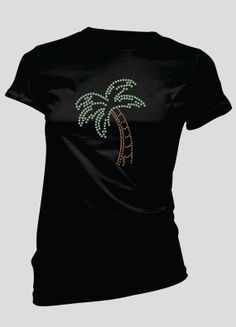 Palm Tree Rhinestone TShirt by BellaBlingOnline on Etsy, $23.99