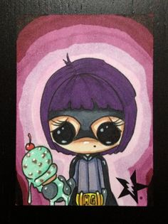 Sugar Fueled Hit Girl Marvel Comic lowbrow by Sugarfueledart