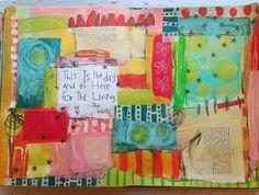 Art Journaling by Dori Patrick with StencilGirl stencils