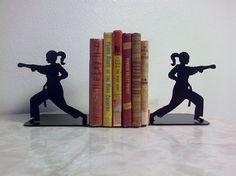 Karate Girl Martial Arts Taekwondo Metal Bookends FREE USA SHIPPING on Etsy, $56.00