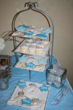 Cookies and cupcakes at a Cinderella birthday party! See more party ideas at CatchMyParty.com!
