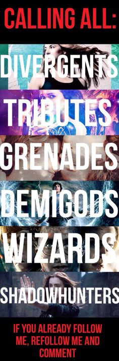 Hunger Games, Harry Potter, and Percy Jackson.