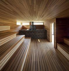 new sauna room in my house please Sauna Steam Room, Steam Bath, Sauna Room, Basement Sauna, Sauna Hammam, Spa Sauna, Pool Spa, Design Sauna, Scandinavian Saunas