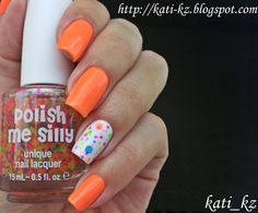 Polish me silly Clowning around & American apparel Neon coral