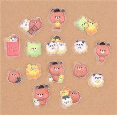adhesivos sueltos de Japón en forma de graciosos animalitos de maíz
