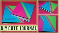 DIY Awesome Accordion Journal! Cute Journal for school, work, or drawing!