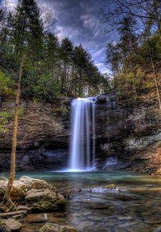 Upper waterfall in Cloudland Canyon State Park. Vacation Places, Vacation Spots, Places To Travel, Places To See, Beautiful Waterfalls, Beautiful Landscapes, Beautiful World, Beautiful Places, Georgia State Parks
