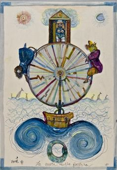 X. The Wheel of Fortune - Antonio Possenti Tarot by Antonio Possenti