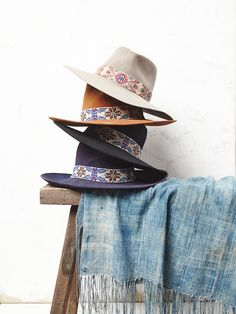 Sam Roberts for Free People Big Love Exclusive Beaded Band Hat at Free People Clothing Boutique