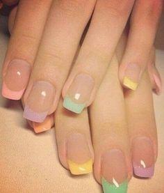 Multi + french manicure + Square
