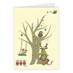 Reindeer Christmas Card - by Rachael Edwards