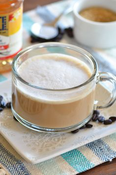 Vanilla Latte - you can make at home without an espresso machine or fancy equipment! Just the use of a mason jar and Tate+Lyle® Gourmet Beverage Syrups! #sponsored