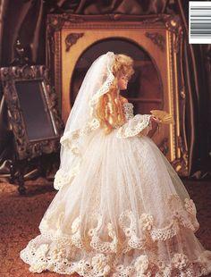 1785 Old World Bride Dress for BArbie Doll Paradise Vol 67 Crochet Pattern New | eBay