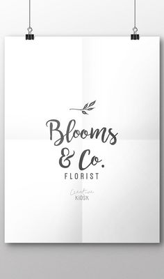 Florist Logo. Simple Natural Logo. Instant Download Logo. DIY Logo. Blog Logo. Website Logo Template. Editable PSD Photoshop File. #0404.
