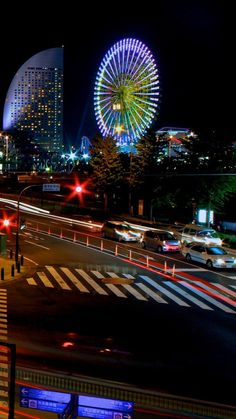 japan, tokyo, night, lights city, beautiful,
