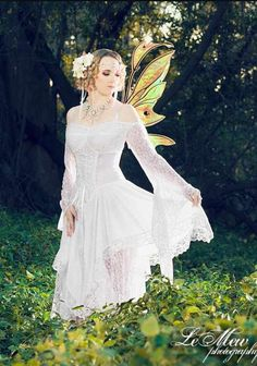 Minus the wings id wear it lol Fairy Wedding Dress