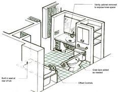 Handicap Bathroom Floor Plans