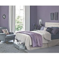 Lilac Bedroom Ideas How To Work The Lilac And Grey Colour Scheme Into Your Home Yatak odası Bedroom Wall Colors, Bedroom Color Schemes, Room Ideas Bedroom, Home Decor Bedroom, Modern Bedroom, Trendy Bedroom, Bedroom Furniture, Furniture Ideas, Furniture Movers