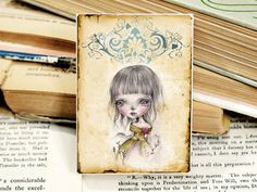 Miniature woodblock...from my original artwork by ppinkydollsart